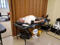 Bob Spano is a dedicated blood donor.